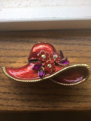 Red Hat Society Pill Box - Costume Jewelry