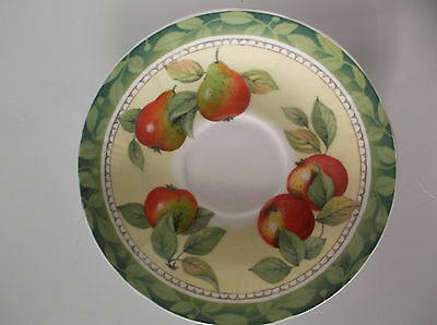 Vintage Evesham Roy Kirkham Fine Bone China Saucer Fruit Design England