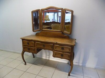 Dressing table Oak Louis XV,French style,Delivery possible, see description