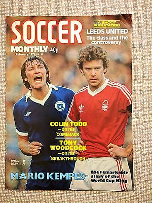 Soccer Monthly magazine #6 February 1979 Leeds United, Colin Todd