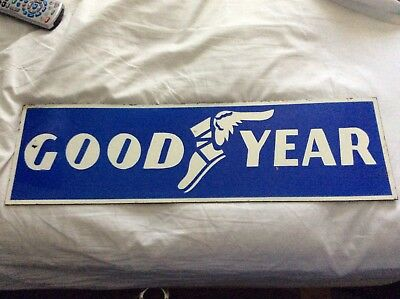 vintage Heavy porcelain good year tire sign