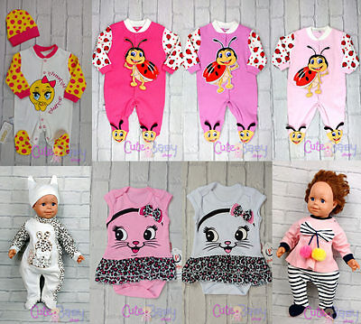 Cute Baby Shower Gift Girls Clothes Sleepsuit Bodysuit White Panther Pompons Bug