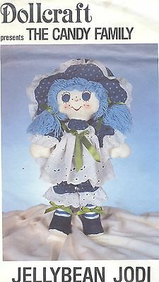Doll Pattern Candy Family Soft Sculpt Cloth Doll Jellybean Jodi Doll and Clothes