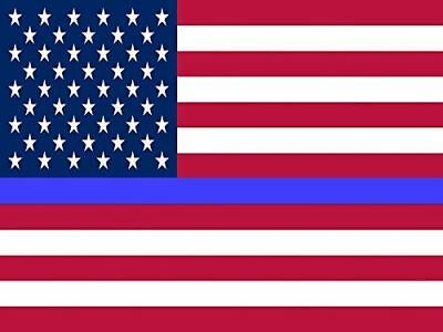 Thin Blue Line Poster Police Poster Police Flag USA Flag Poster 27x40