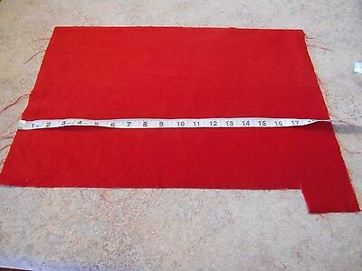 ANTIQUE RED COTTON  VELVET REMNANT  for FRENCH FASHION-GERMAN BISQUE-CHINA DOLL