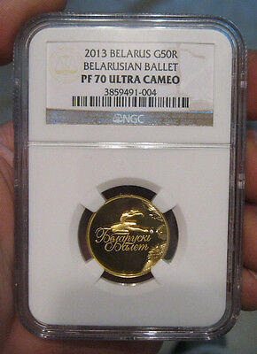 Belarus - 2013 Gold 50 Roubles (NGC PF 70 Ultra Cameo)
