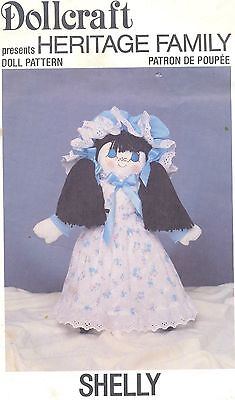Doll Pattern Heritage Family Soft Sculpt Cloth Doll Shelley Doll and Clothes
