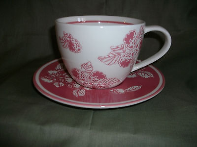 Starbucks 2007 Raspberries cup and Saucer Original SKU tag