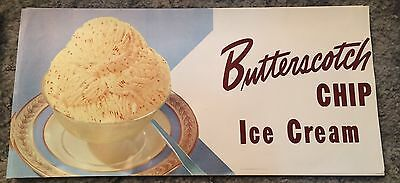 NOS Butterscotch Chip Ice Cream Advertising Poster