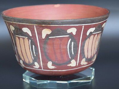 Better Than In Photos: Pre Columbian Painted Bowl Peru. Nasca. 1St- 6Th Century