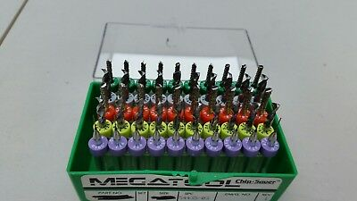 50pcs of megatool tungsten carbide drill bits