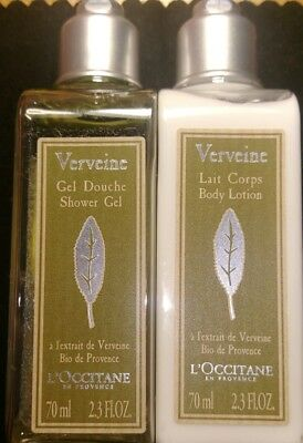 L'Occitane  shower gel 70ml and  body lotion 70ml-new