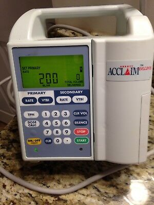 Hospira Acclaim Encore Infusion Fluid Pump Pre Owned