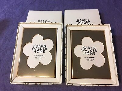 RARE - Karen Walker Home Flower Frame Small x2