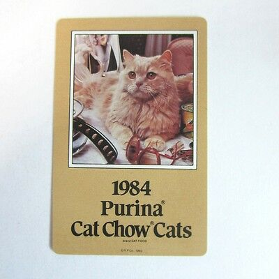 Deck of Vintage 1984 Purina Cat Chow Cats Playing Cards by Hoyle