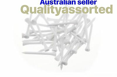 50 X TOP PRO QULITY  54mm Wood GOLF TEE White Colour Only