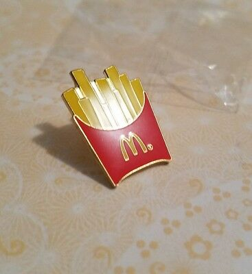 McDonald's French Fry Label Pin New Clean Wear Flare Salty Fast Food Jewelry