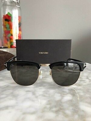 3b798e22655 BRAND NEW TOM Ford Sunglasses CLUBMASTER FT 248 HENRY Color 05N GOLD ...