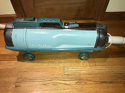 Vintage Electrolux Sea Foam Blue Canister Vacuum Model Automatic G W/Power Head