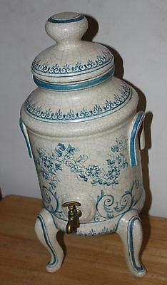 Vtg BENNLOCH Espana Spanish Spain Art Pottery Majolica Footed Water Wine Cooler