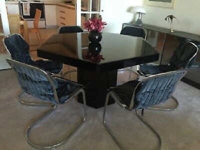 NOW 17% OFF! Mid Century Modern CIDUE Set~Designer WILLY RIZZO! 6 Chairs & Table