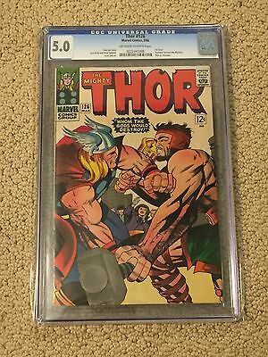 Thor 126 CGC 5.0 OW/White Pages (First Solo Title from 1966!!)