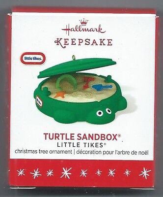 "Hallmark Keepsake ""Turtle Sandbox"" Little Tikes Miniature Ornament NIB"