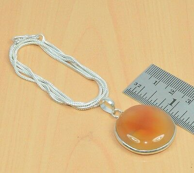 Free Ship 925 Silver Plated Red Carnelian Nice Chain-Pendant Jewelry G11823