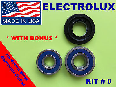 Front Load Washer,2 Tub Bearings And Seal, Electrolux,kit # 8 ,