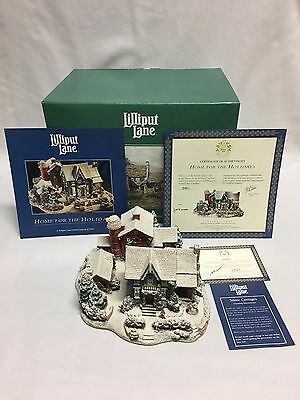 Lilliput Lane Home for the Holidays 519 LE 511/2596 Mint w/ Box