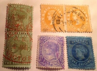 Australian Stamps Victoria Stamp Duty, Batch As Listed