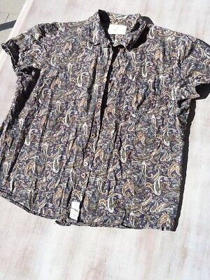 Men's Button Down Bellfield Paisley Short Sleeve Shirt