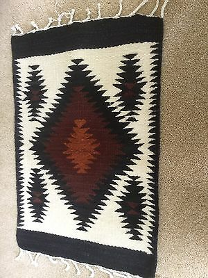 Small Mexican Wool Rug