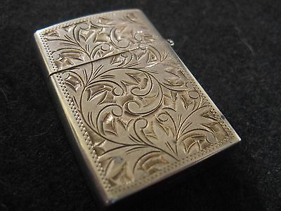 Etched Floral Sterling Silver Small Lighter...very Pretty