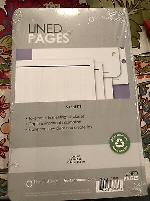 Franklin Covey Lined Pages 5.5 X 8.5 50 Sheets
