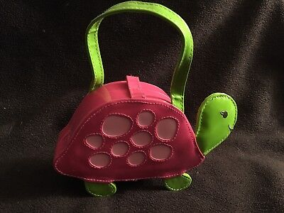 Gymboree Tennis Match Pink Hard Case Turtle Purse NWOT