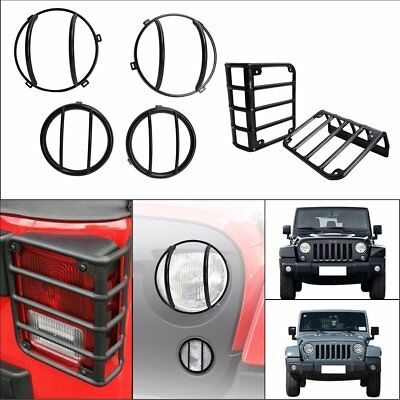 Headlight Turn Signal Tail Lights Guard Cover Set for Jeep Wrangler 2007-2017