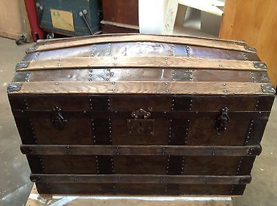 Antique Domed Shipping Trunk