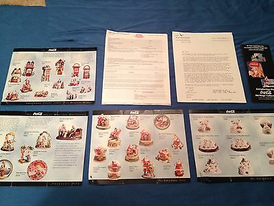 Group Of Brochures And Dealer Info For Coca Cola Coke Heritage Collection