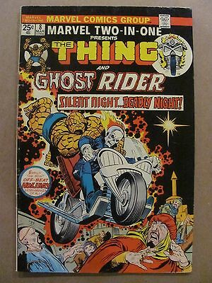 Marvel Two-in-One #8 Marvel Comics 1974 Series Thing & Ghost Rider early app