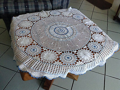 Small Round Crochet Table Cloth & Matching Doilie