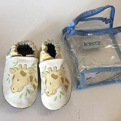 ROBEEZ Baby Infant Giraffe Crib Soft Sole Shoes Booties 12-18 M Original package
