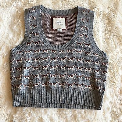 American Eagle Outfitters Womens Vintage Crop Sweater Vest Size L