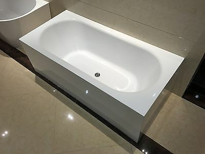 Bathroom Acrylic Free Standing Bath Tub Edge 1700 x 800 x 580 Model Santina