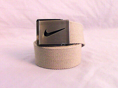 Nike Youth Boy's Canvas Web Belt Kids Adjustable One Size Tan Uniform Belt