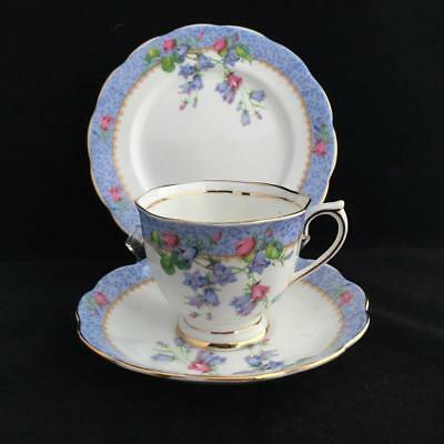 Royal Albert Harebell Trio Cup Saucer And Plate Vintage