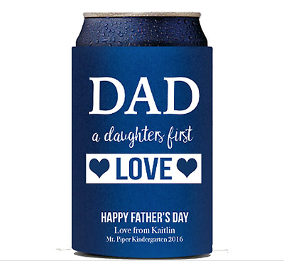 Fathers Day Gift | Stubby Holder | Personalised Custom | Daughters first love