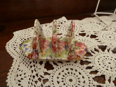 Royal Winton all over floral toast rack.