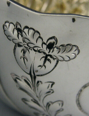 BEAUTIFUL VICTORIAN ENGLISH STERLING SILVER BOWL FLOWERS 1893 ANTIQUE 104g