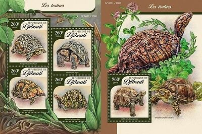 Z08 DJB16109ab DJIBOUTI 2016 Turtles Imperforated Set